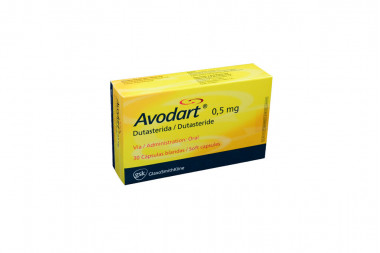 Avodart 0,5 mg Caja Con 30 Cápsulas Blandas