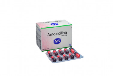 Amoxicilina 500 mg Caja Con 60 Cápsulas