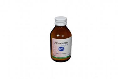 Amoxicilina Polvo 250 mg / 5 mL Frasco De 100 mL - Suspensión