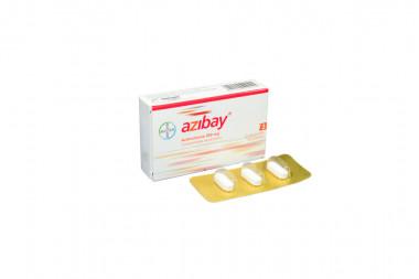 Azibay 500 mg Caja Con 3 Comprimidos Recubiertos