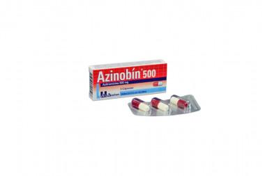 Azinobín 500 mg Caja Con 3 Cápsulas