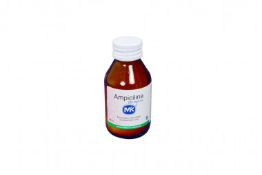 Ampicilina Polvo 250 mg / 5 mL Frasco De 60 mL - Suspensión Oral