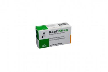 B -Cort 200 mcg Caja Con Inhalador Con 120 Dosis
