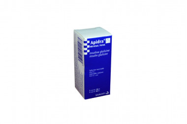 Apidra Solución Inyectable 100UI/mL Caja Con 1 Vial 10 mL