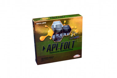 Api-Folt Solución Caja Con 5 Frascos Con 12 mL