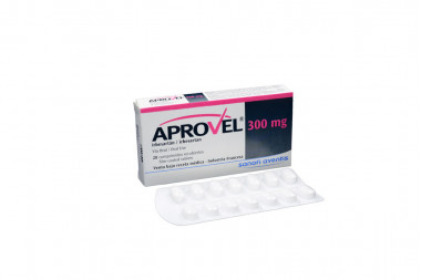 Aprovel 300 mg Caja Con 28 Comprimidos Recubiertos