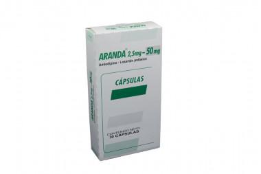 Aranda 2,5 mg / 50 mg Caja Con 30 cápsulas
