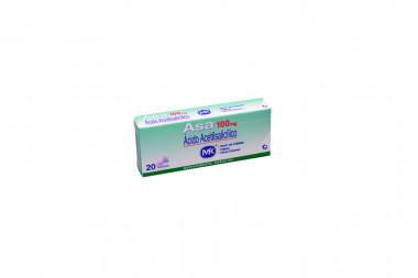 Asa 100 mg Caja x 20 Tabletas - Dolor De Cabeza