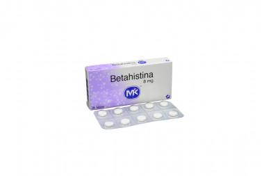 Betahistina 8 mg Caja Con 20 Tabletas