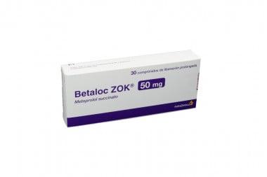 Betaloc ZOK 50 mg Caja Con 30 Comprimidos De Liberación Prolongada