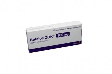 Betaloc ZOK 100 mg Caja Con 30 Comprimidos De Liberación Prolongada