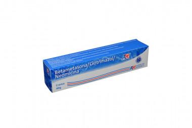 Betametazona / Clotrmazol / Neomicina En Crema Caja Con Tubo Con 40 g