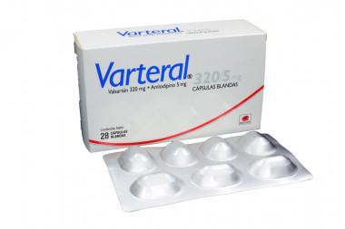 Varteral 320 / 5 mg Caja Con 28 Cápsulas Blandas