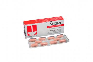 Vedipal 450 / 50 mg Caja Con 30 Comprimidos Recubiertos