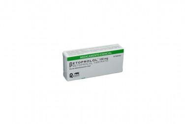 Betoprolol 100 mg Caja Con 30 Tabletas