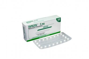 Tapazol 5 mg Caja Con 100 Tabletas