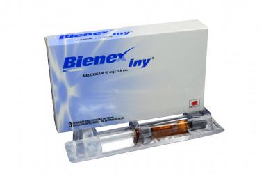 Bienex Iny Solución Inyectable 15 mg / 1.5 mL Caja Con 3 Jeringas Prellenadas