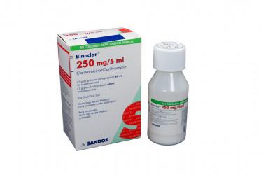 Binoclar Granulos 250 mg / 5 mL Caja Con Frasco Con 60 mL - Suspensión Oral