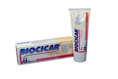 Biocicar Crema Cicatrizante Caja Con Tubo Con 60 g