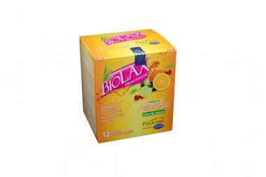 Biolax Fibra Natural Granulado Caja Con 12 Sobres De 5 g c/u - Sabor A Naranja