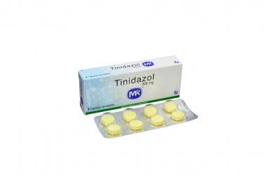 Tinidazol 500 mg Caja Con 8 Tabletas Recubiertas