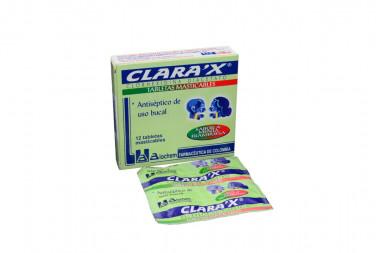 Clarax Caja Con 12 Tabletas Masticables - Sabor a Menta / Frambuesa