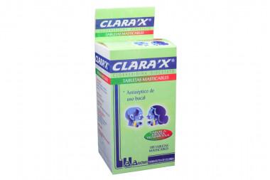 Clarax Caja Con Frasco Con 100 Tabletas Masticables - Sabor Menta / Frambuesa