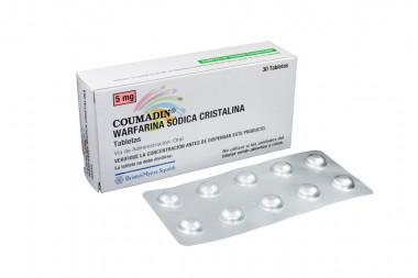 Coumadin 5 mg Caja Con 30 Tabletas