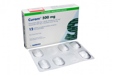 Curam 500 / 125 mg Caja Con 12 Tabletas Recubiertas
