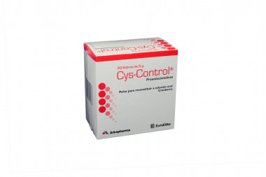 Cys-Control Polvo Caja Con 20 Sobres Con 5 g - Solución Oral