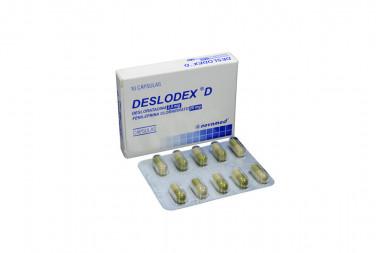 Deslodex D 2.5 / 20 mg Caja Con 10 Cápsulas