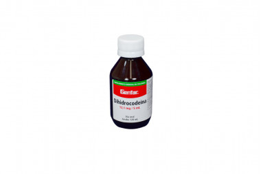 Dihidrocodeína Jarabe 12,1 mg / 5 mL Frasco Con 120 mL