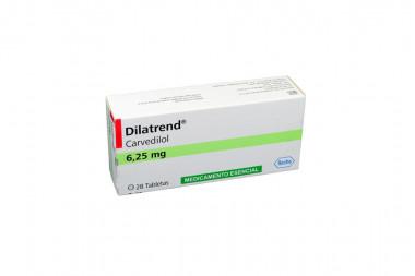 Dilatrend 6.25 mg Caja Con 28 Tabletas