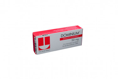 DOMINIUM 50 mg Caja Con 10 Comprimidos