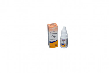 Dorzolamida + Timolol Solución Oftálmica 20 / 5 mg Caja Con Frasco Con 5 mL