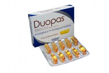 Duopas 400 / 20 mg Caja Con 10 Cápsulas Blandas de Gelatina