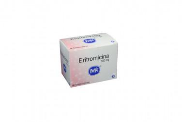 Eritromicina 500 mg Caja Con 50 Tabletas Cubiertas