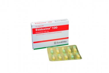Etidoxina 100 mg Caja Con 10 Cápsulas