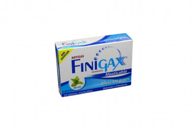Finigax Caja Con 24 Tabletas Masticables - Sabor Menta