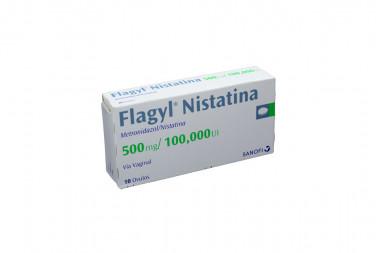 Flagyl Nistatina 500 mg / 100.000 U.I Caja Con 10 Óvulos