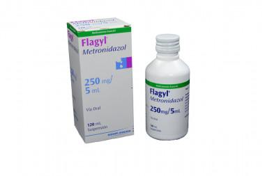 Flagyl Suspensión 250 mg Caja Con Frasco Con 120 mL
