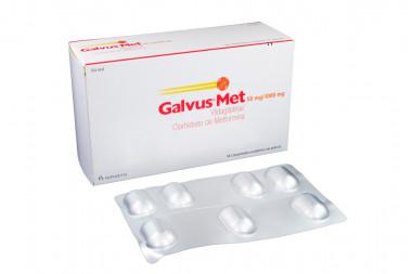 Galvus Met 50 / 1000 mg Caja Con 56 Comprimidos Recubiertos