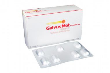 Galvus Met 50 / 850 mg Caja Con 56 Comprimidos Recubiertos