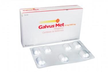 Galvus Met 50 / 1000 mg Caja Con 28 Comprimidos Recubiertos