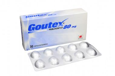 Goutex 80 mg Caja Con 30 Cápsulas Blandas