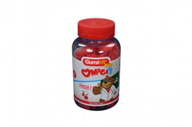 Gumivit Kids Omega 3 Frasco x 60 Gomas De Gelatina Sabor A Frambuesa