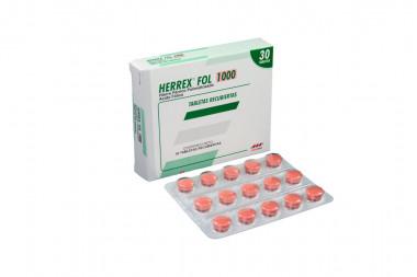 Herrex FOL 1000 Caja Con 30 Tabletas Recubiertas