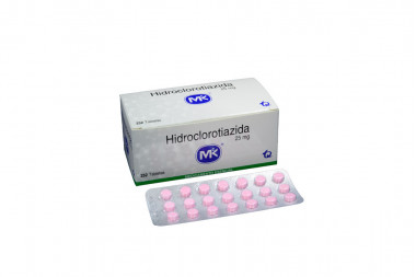 Hidroclorotiazida 25 mg Caja Con 252 Tabletas
