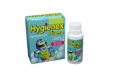 Higienex Piretro 0.2% Champú Antipiojos Frasco x 60 mL - Antipiojos