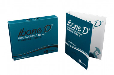 Ibone D 150 mg / 12.000 UI Caja Con 1 Tableta Recubierta